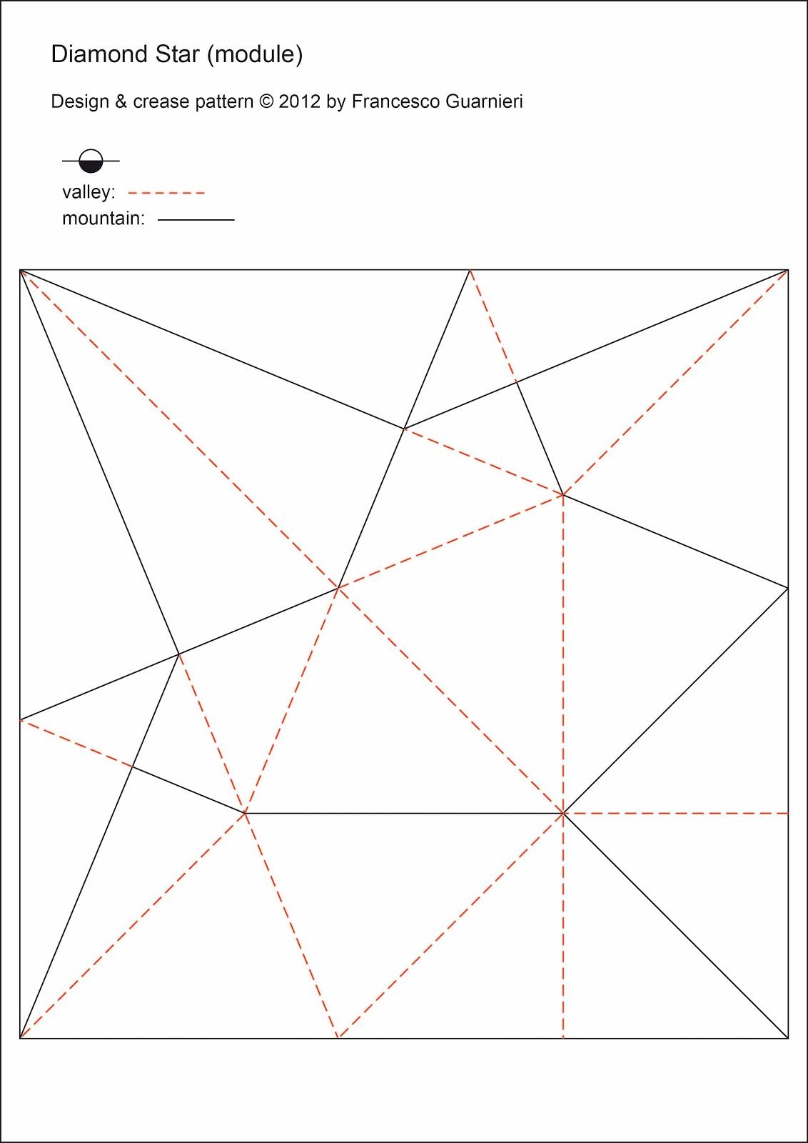 Origami Poesie Di Carta Stella Diamante 1 Francesco